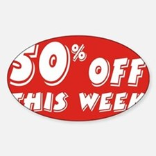 50% week Sticker (Oval)