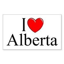 """I Love Alberta"" Rectangle Decal"