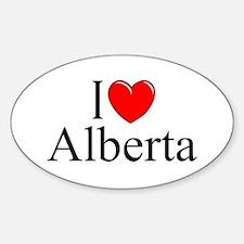 """I Love Alberta"" Oval Decal"