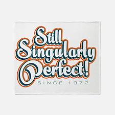 Singularly_White Throw Blanket