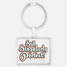 Singularly_White Landscape Keychain