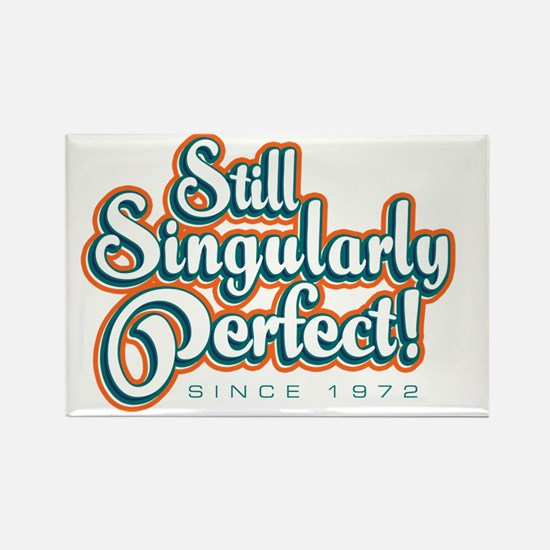 Singularly_White Rectangle Magnet