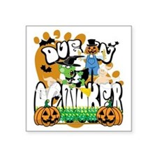 """Due-In-October Square Sticker 3"""" x 3"""""""