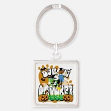 Due-In-October Square Keychain