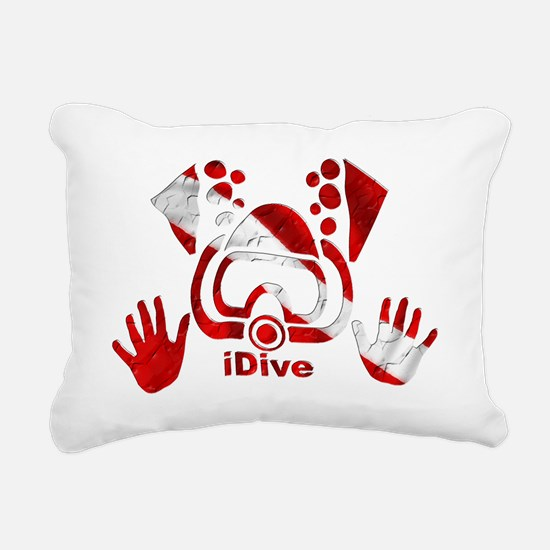 Idive 2010 dive flag 4 l Rectangular Canvas Pillow