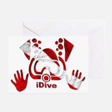 Idive 2010 dive flag 4 lite Greeting Card