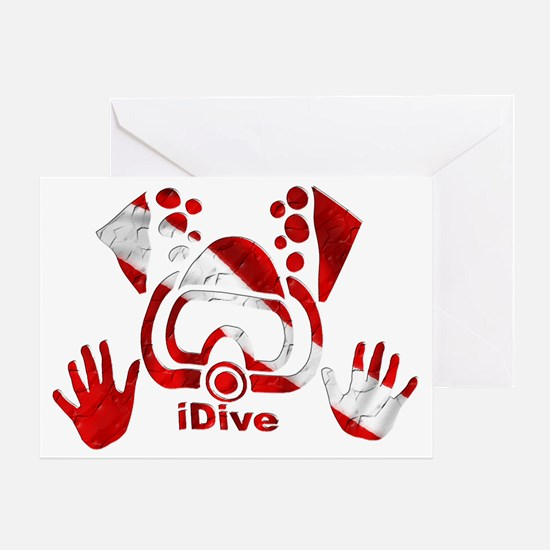 Idive 2010 dive flag 4 lite Greeting Card