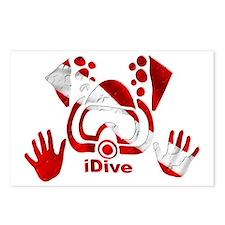 Idive 2010 dive flag 4 li Postcards (Package of 8)