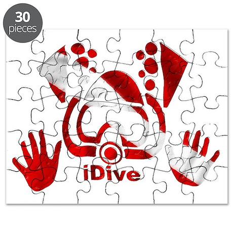 Idive 2010 dive flag 4 lite Puzzle