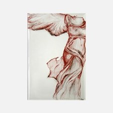 signed Winged Journal Final Rectangle Magnet