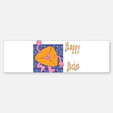 Happy Purim Bumper Bumper Bumper Sticker