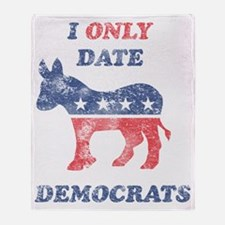 I_Only_Date_Democrats_Light Throw Blanket