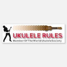 titusfactory_UkeRules03 Sticker (Bumper)
