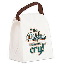 DolphinsMakeMeCry_Dark Canvas Lunch Bag