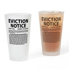 Baby Eviction Notice Drinking Glass