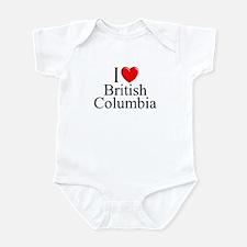 """""""I Love British Columbia"""" Infant Bodysuit"""