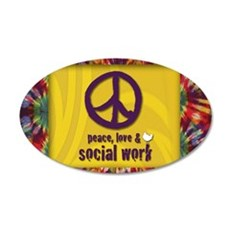 PeaceMagnet 35x21 Oval Wall Decal