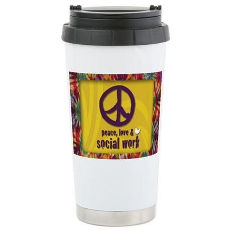 PeaceMagnet Stainless Steel Travel Mug