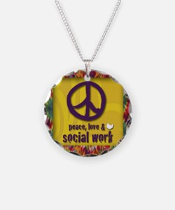 3-PeaceLogo Necklace