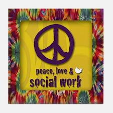 3-PeaceLogo Tile Coaster