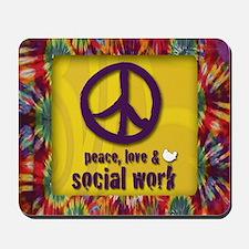 3-PeaceLogo Mousepad