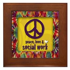3-PeaceLogo Framed Tile