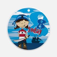 pirate girl badge 8 Round Ornament