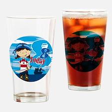pirate girl badge 8 Drinking Glass