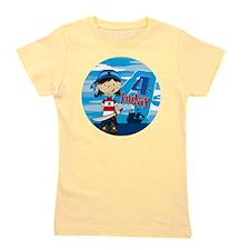 pirate girl badge 4 Girl's Tee