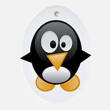 penguin want mom hug love Ornament (Oval)