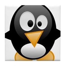 penguin want mom hug love Tile Coaster