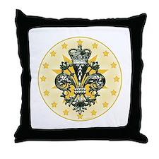 Saint Icon Fleur medallion Throw Pillow