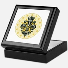 Saint Icon Fleur medallion Keepsake Box