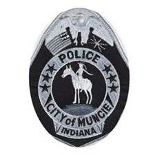 Muncie Police Oval Ornament
