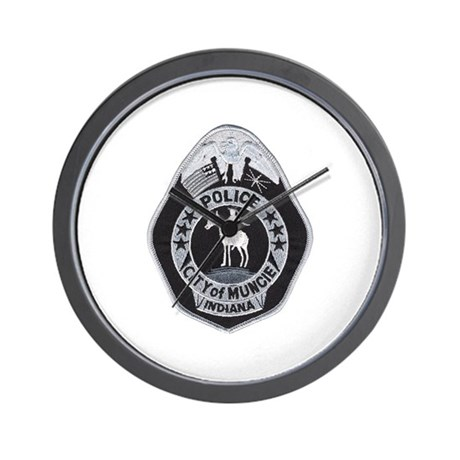 muncie police wall clock by policeshoppe