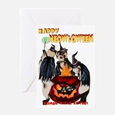 Happy Meowloween Trans Greeting Card