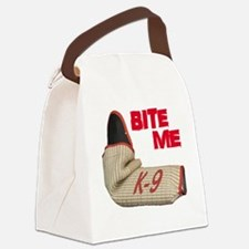 BITE ME - Certified K9 Decoy (dar Canvas Lunch Bag