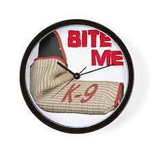 BITE ME - Certified K9 Decoy (dark) Wall Clock