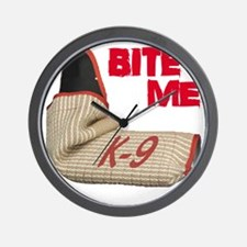BITE ME - Certified K9 Decoy (dark) Wall Clock