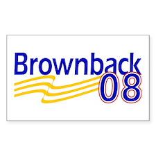 Brownback 08 Rectangle Decal