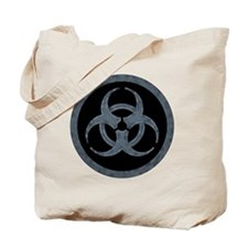 Gray Stone Biohazard Symbol Tote Bag