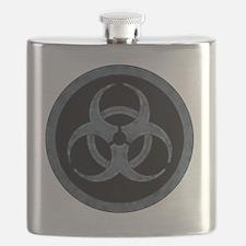 Gray Stone Biohazard Symbol Flask