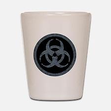 Gray Stone Biohazard Symbol Shot Glass