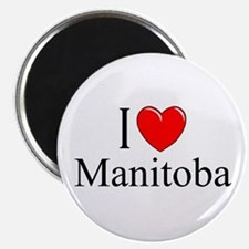 """I Love Manitoba"" Magnet"