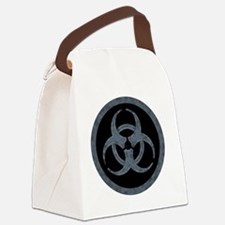 Gray Stone Biohazard Symbol Canvas Lunch Bag