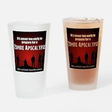 Zombie Apocalypse Recruiting Drinking Glass