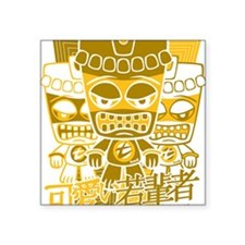 "TikiTeeStencil12x12W Square Sticker 3"" x 3"""