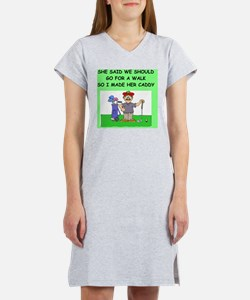 golf caddy gifts t-shirts Women's Nightshirt