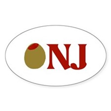Olive (I Love) NJ Oval Decal