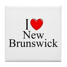 """I Love New Brunswick"" Tile Coaster"
